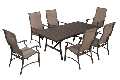 TREVI DINING SET WITH 6 CHAIRS