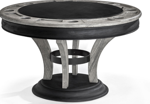 CENTENNIAL GAME TABLE - Rustic Grey / Black Wire Brush