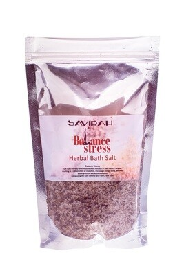 Herbal Bath Salt with Minerals, Balance Stress with Iodized Sea Salt, Stress Reduction, 250 gr