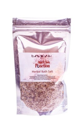 Herbal Bath Salt with Minerals, Mind and Body Function with Iodized Sea Salt, 250 gr