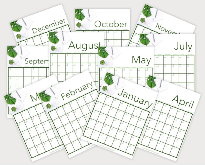 12-Month Blank Calendar