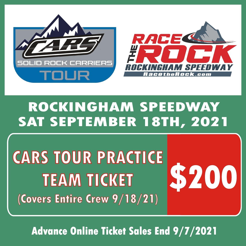 Practice - CARS Tour - 9/18/21