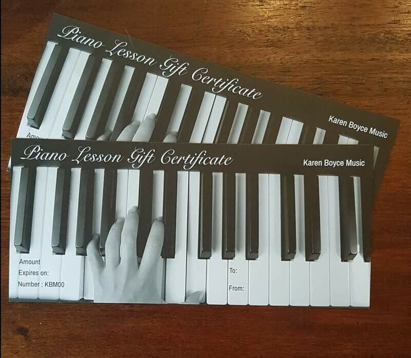 Gift Voucher - Four 30 minute lessons + Music Book