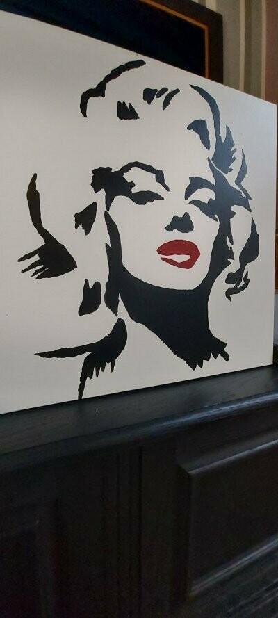 Shilderij Marilyn Monroe 50cm - 50cm