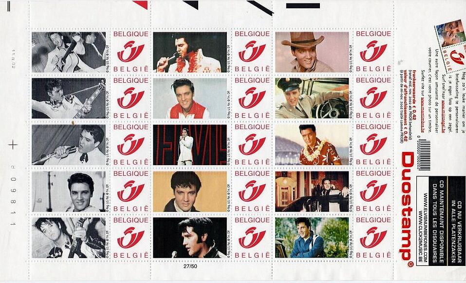 BPost - Postzegels 2002 Elvis Presley