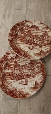 2 borden Broadhurst & Sons England SWAN INN