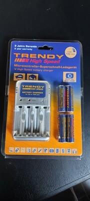 High Speed Batterij-Oplader ... incl. 4 AA batterijen