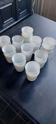 22 wit glazen theelichthouders - hoogte 7 cm