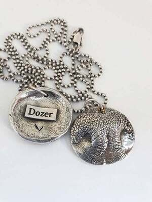 3D Sterling Silver Nose Print from your pet
