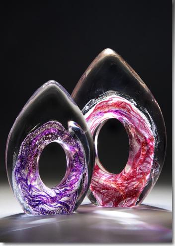 Perennial Flame Memorial Glass