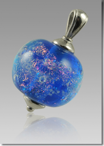 Swirling Galaxy Pendant with Ashes