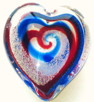 Hearts and Orbs With Cremains in Hand Blown Glass Crystal