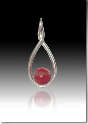 Melody Twist Pendant with Glass Pearl with Ashes
