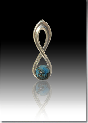 Harmony Pendant with Glass Pearl made with Ashes