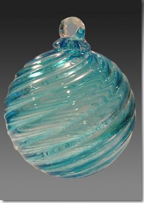 Timeless Sphere Memorial Glass Ornament