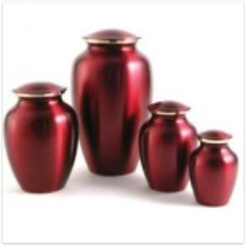 Classic Pet Urns - Brass, Crimson Red, Pewter, Slate and Violet