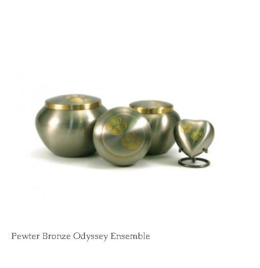 Odyssey Urns - Crimson Red, Moonlight Blue, Mossy Oak Camo, Pearl, Pewter, Pink, Platinum, Raku and Slate