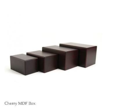 Box Urns - Cherry, Natural & Bamboo