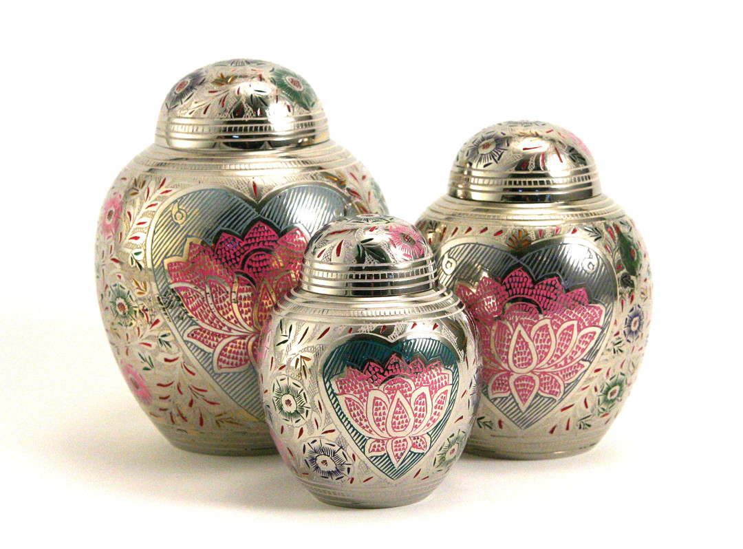Lotus Heart Urns