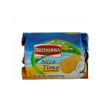 BRITANNIA NICE TIME COCONUT BISCUITS 80GM