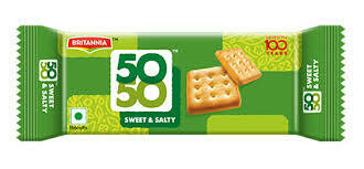 BRITANNIA 50-50 SWEET&SALTY CRACKERS 372gm