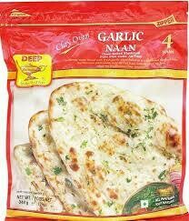 Deep Clay Oven Garlic Naan 4pcs