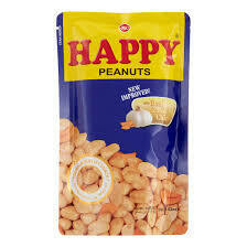 Happy Peanuts With Real Garlic Chips 100gm