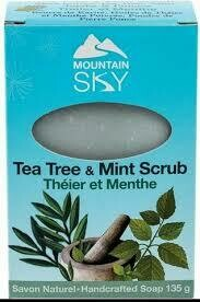 Mountain Sky Tea Tree & Mint Scrub Soap