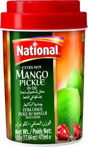 NATIONAL- EXTRA HOT MANGO PICKLE 1KG