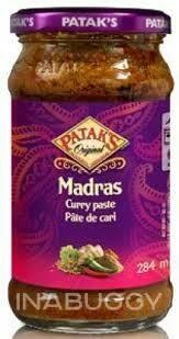 Pataks Madras Curry Paste 284ml