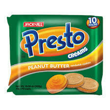 Presto Creams Peanut Butter Sandwich Cookies 300gm