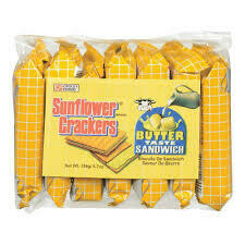 Sunflower Crackers Butter Taste Sandwich 189gm
