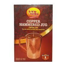 Verka Copper Hammered Jug With Lid