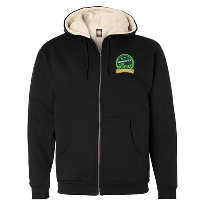 Sherpa Lined Full-Zip Hooded Sweatshirt Embroidered