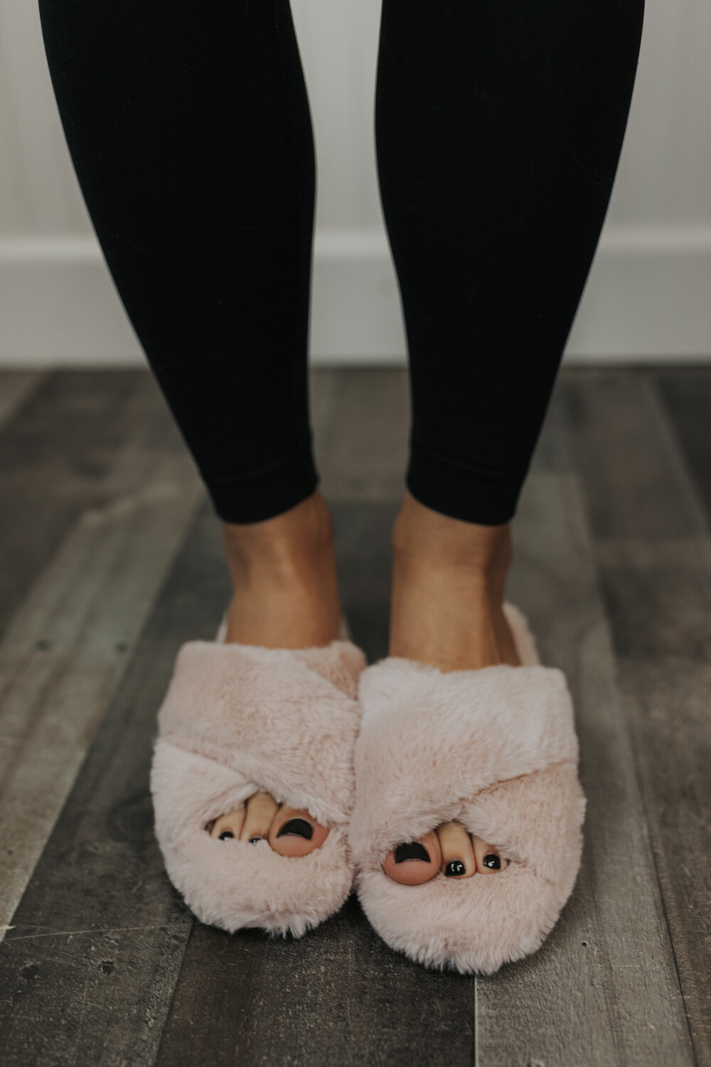 Furry Slippers- Pink