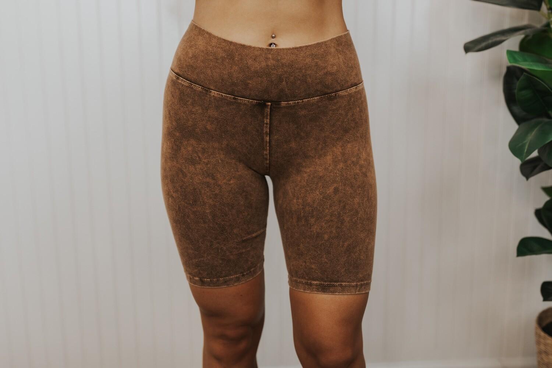 Biker Shorts-Camel