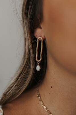 Round Drop Link Earring