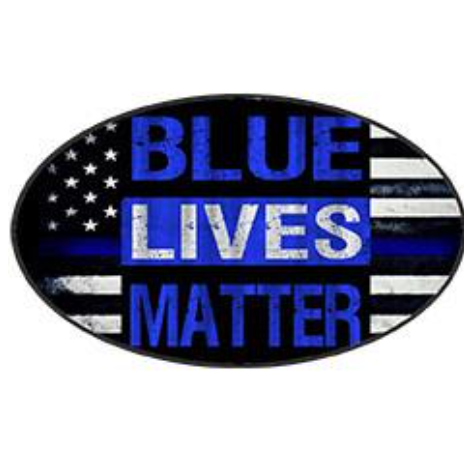 Blue Lives Matter - Oval Sticker by Dixie Outfitt.