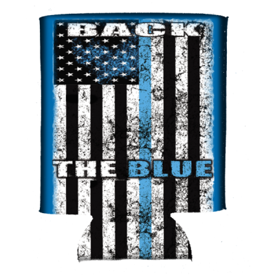 Back The Blue Can Koozie by Dixie Outfitters