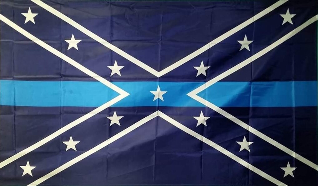Rebel Blue Lives Matter Flag