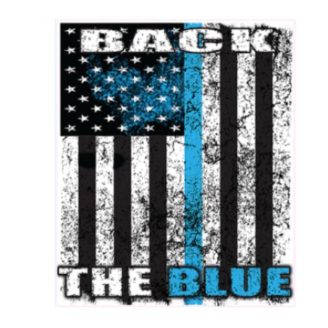 Back The Blue - Square Sticker by Dixie Outfitters