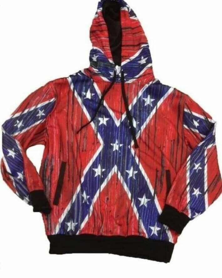Confederate Hoodie - Distressed
