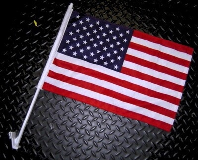 Double-Sided Woven Auto Window Flag - United States