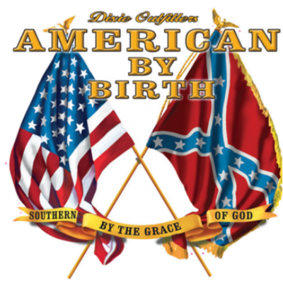 American By Birth - Square Sticker v2 by Dixie Outfitters®