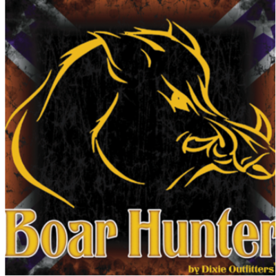 Confederate Boar Hunter Sticker by Dixie Outfitters®