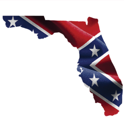 Confederate Florida - Square Sticker by Dixie Outfitters®