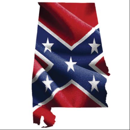 Confederate Alabama - Square Sticker