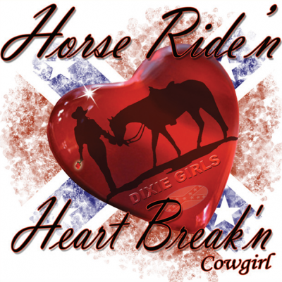 Horse Ride'n - Square Sticker by Dixie Outfitters®​