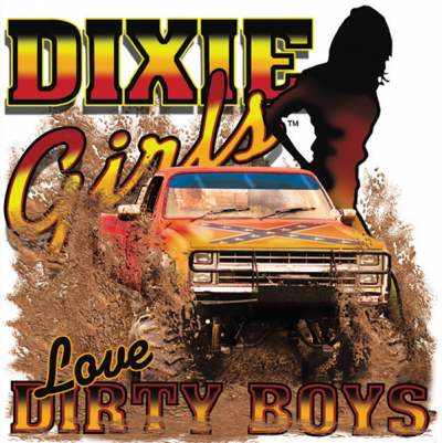 Dixie Girls Love Dirty Boys Square Sticker by Dixie Outfitters®