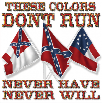 These Colors Don't Run - Square Sticker by Dixie Outfitters®